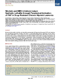Nilotinib and MEK inhibitors induce synthetic lethality through paradoxical activation of RAF in drug-resistant chronic myeloid leukaemia