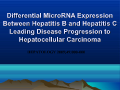 Differential MicroRNA Expression Between Hepatitis B and Hepatitis C Leading Disease Progression to Hepatocellular Carcinoma