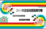 华东区篇|2014年度中国最佳医院排行榜