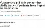 美国首批数字化药片上市:治疗精神分裂症躁狂症,可提醒吃药