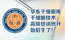 华东干细胞库干细胞技术高级培训班开始招生了!