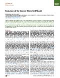 Evolution of the Cancer Stem Cell Model