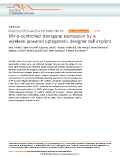 Mind-controlled transgene expression by a wireless-poweredoptogenetic designer cell implant