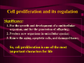 PPT:Cell proliferation and its regulation