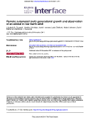 Remote automated multi-generational growth and observation of an animal in low Earth orbit