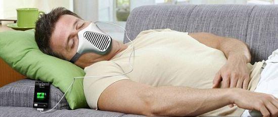 巴西设计师推出借助呼吸为手机等充电的面罩