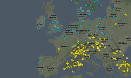 间星期五12点的卫星云图:(实时更新)-冰岛火山灰云笼罩欧洲第二图片