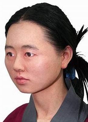 16岁女仆的面部较宽